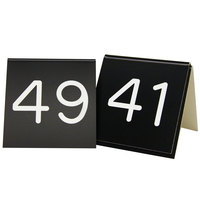 Cal-Mil 269-2 Black Customizable Replacement Engraved Number Tent Sign - 3 inch x 3 inch