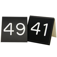 Cal-Mil 269-2 Black Replacement Engraved Number Tent Sign - 3 inch x 3 inch