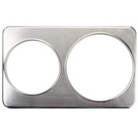 2 Hole Steam Table Adapter Plate - 8 3/8 inch and 10 3/8 inch