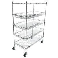 Regency NSF Chrome 4 Basket and 1 Shelf Kit - 24 inch x 48 inch x 69 inch