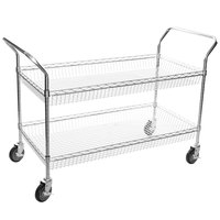 Regency Chrome Two Basket Utility Cart - 24 inch x 48 inch x 36 inch