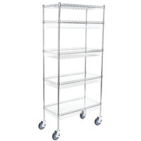 Regency NSF Chrome 4 Basket and 1 Wire Shelf Kit - 18 inch x 36 inch x 69 inch