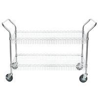 Regency Chrome Two Basket Utility Cart - 18 inch x 48 inch x 36 inch
