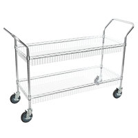Regency Chrome Two Basket Utility Cart - 18 inch x 48 inch x 36 inch