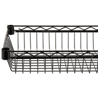 Regency 24 inch x 36 inch NSF Black Epoxy Shelf Basket