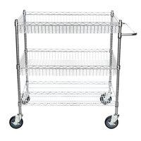 Regency Chrome Two Basket and One Shelf Utility Cart - 24 inch x 36 inch x 39 inch