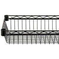 Regency 18 inch x 36 inch NSF Black Epoxy Shelf Basket