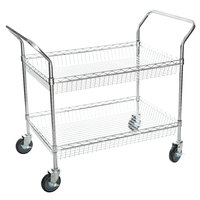 Regency Chrome Two Basket Utility Cart - 24 inch x 36 inch x 36 inch
