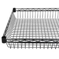 Regency 24 inch x 48 inch NSF Black Epoxy Shelf Basket