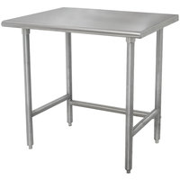 Advance Tabco TELAG-242 24 inch x 24 inch 16-Gauge 430 Stainless Steel Economy Work Table with Galvanized Legs