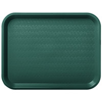 Carlisle CT101408 Customizable Cafe 10 inch x 14 inch Forest Green Standard Plastic Fast Food Tray - 24/Case