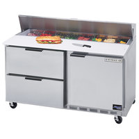 Beverage-Air SPED60HC-10-2 60 inch 1 Door 2 Drawer Refrigerated Sandwich Prep Table