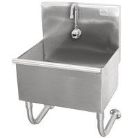 Advance Tabco WSS-16-25EF 16-Gauge Service Sink with 12 inch Deep Bowl and Electronic Faucet - 22 inch x 19 1/2 inch