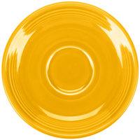 Homer Laughlin 470342 Fiesta Daffodil 5 7/8 inch China Saucer - 12/Case