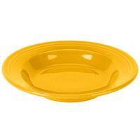 Homer Laughlin 451342 Fiesta Daffodil 13.25 oz. China Rim Soup Bowl - 12/Case