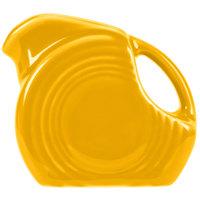 Homer Laughlin 475342 Fiesta Daffodil 5 oz. Mini Disc China Creamer Pitcher - 4/Case