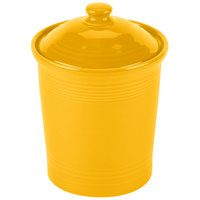 Homer Laughlin 571342 Fiesta Daffodil 1 Qt. Small China Canister with Cover - 2/Case
