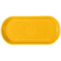 Homer Laughlin 412342 Fiesta Daffodil 12 inch x 5 11/16 inch Oval China Bread Tray - 6/Case