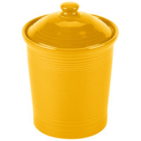 Homer Laughlin 573342 Fiesta Daffodil 3 Qt. Large China Canister with Cover - 2/Case