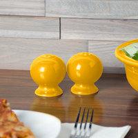 Homer Laughlin 497342 Fiesta Daffodil China Salt and Pepper Shaker Set - 4/Case