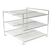 Nemco 66792 Three Tier 15 inch Shelf System for 6454 Pizza and Hot Food Merchandisers
