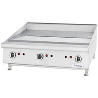U.S. Range UTGG36-G36M Liquid Propane 36 inch Heavy-Duty Countertop Griddle with Manual Controls - 81,000 BTU
