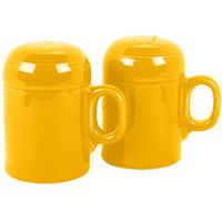 Homer Laughlin 756342 Fiesta Daffodil China Rangetop Salt and Pepper Shaker Set - 4/Case