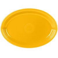 Fiesta Tableware from Steelite International HL968342 Daffodil 19 1/4 inch x 13 1/2 inch Oval Extra Large China Serving Platter - 2/Case