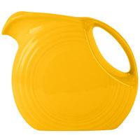 Homer Laughlin 484342 Fiesta Daffodil 2.1 Qt. Large Disc China Pitcher - 2/Case