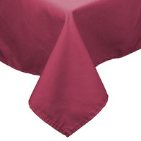54 inch x 81 inch Mauve 100% Polyester Hemmed Cloth Table Cover