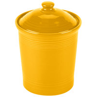 Homer Laughlin 572342 Fiesta Daffodil 2 Qt. Medium China Canister with Cover - 2/Case
