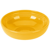 Homer Laughlin 1472342 Fiesta Daffodil 96 oz. Extra Large China Bistro Bowl - 4/Case