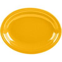 Homer Laughlin 457342 Fiesta Daffodil 11 5/8 inch x 8 7/8 inch Oval Medium China Platter - 12/Case