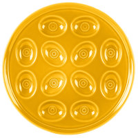 Homer Laughlin 724342 Fiesta Daffodil 11 1/4 inch China Egg Tray - 4/Case