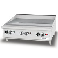 U.S. Range UTGG24-GT24M Liquid Propane 24 inch Heavy-Duty Countertop Griddle with Thermostatic Controls - 56,000 BTU
