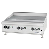 U.S. Range UTGG24-GT24M Natural Gas 24 inch Heavy-Duty Countertop Griddle with Thermostatic Controls - 56,000 BTU