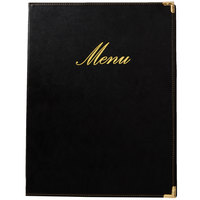 American Metalcraft MCCRLSBL Securit Classic Menu Holder - Black