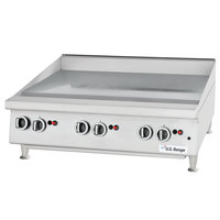 U.S. Range UTGG36-GT36M Liquid Propane 36 inch Heavy-Duty Countertop Griddle with Thermostatic Controls - 84,000 BTU