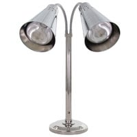 Hanson Heat Lamps DLM/900/ST/CH Dual Bulb Flexible Freestanding Streamline Heat Lamp with Chrome Finish - 115/230V