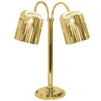 Hanson Heat Lamps DLM/700/ST/BR Dual Bulb Flexible Freestanding Streamline Heat Lamp with Brass Finish - 115/230V