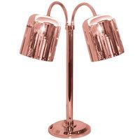 Hanson Heat Lamps DLM/700/ST/BCOP Dual Bulb Flexible Freestanding Streamline Heat Lamp with Bright Copper Finish - 115/230V