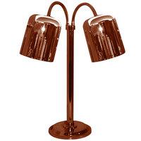 Hanson Heat Lamps DLM/700/ST/SC Dual Bulb Flexible Freestanding Streamline Heat Lamp with Smoked Copper Finish - 115/230V