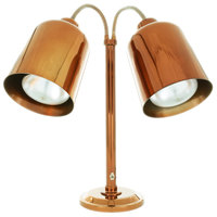 Hanson Heat Lamps DLM/700/ST/SC Dual Bulb Flexible Freestanding Streamline Heat Lamp with Smoked Copper Finish - 115/230V