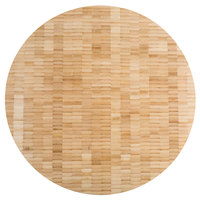 American Metalcraft B16 16 inch x 1 1/2 inch Round Bamboo Butcher Block Serving Board