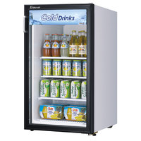 Turbo Air TGM-5R White Countertop Display Refrigerator with Swing Door