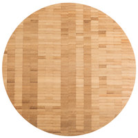 American Metalcraft B14 14 inch x 1 1/2 inch Round Bamboo Butcher Block Serving Board