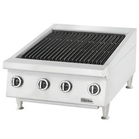 U.S. Range UTBG24-NR24 Natural Gas 24 inch Radiant Charbroiler with Fixed Grates - 72,000 BTU