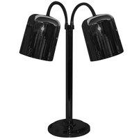 Hanson Heat Lamps DLM/700/ST/B Dual Bulb Flexible Freestanding Streamline Heat Lamp with Black Finish - 115/230V