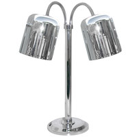 Hanson Heat Lamps DLM/700/ST/CH Dual Bulb Flexible Freestanding Streamline Heat Lamp with Chrome Finish - 115/230V