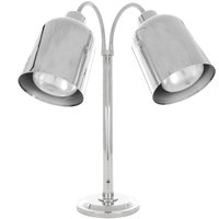 Hanson Heat Lamps DLM/700/ST/CH Dual Bulb Flexible Freestanding Streamline Heat Lamp with Chrome Finish - 115/230V